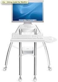 Compact Computer Desk For Imac Rain Design Igo Desk For Imac And Mac Mini With Cinema Display