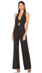 black and gold jumpsuit house of harlow 1960 x revolve coco jumpsuit black gold in black