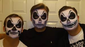 scary face painting in maidstone kent face paint by mel
