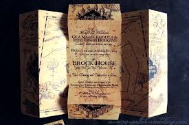 harry potter wedding invitations marauder s map wedding invitations a potter wedding