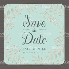 Date Invitation Card Save The Date Wedding Invitation Card With Flower Floral