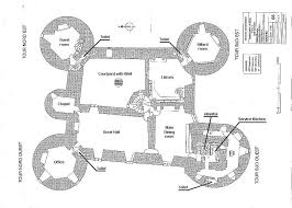 montbrun castle french medieval chateau maps and plans