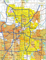Road Maps Usa by Highways And Roads Map Of Kansas Cityfree Maps Of Us