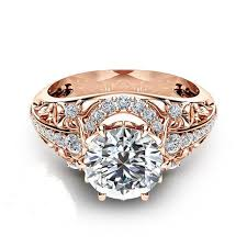 925 sterling silver engagement rings forever brilliant 14k gold plated created moissanite 925