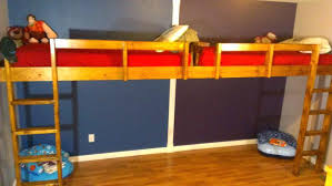 Half Bunk Bed Half Loft Bed How To Build End Floating Loft Bed For Pics