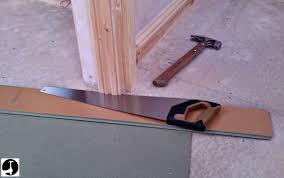 Cutting Wood Flooring Around Door Frame How To Install Laminate Flooring