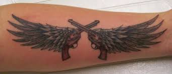 crossed pistols tattoospace social networking for tattoo fans