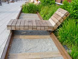 Patio Furniture Nyc by Movable Lounge Chaise Along Rail The High Line Nyc Public