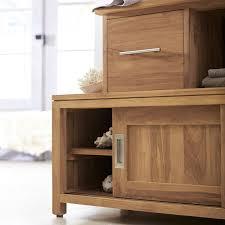 meubles en teck massif meuble salle de bain en teck 140 neela
