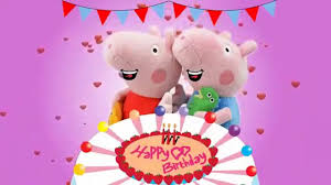 peppa pig song happy birthday song nursery rhymes for kids video