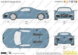 Audi R8 Gt Spyder - the blueprints com vector drawing audi r8 gt spyder