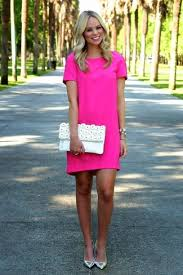 how to wear a pink shift dress 21 looks women u0027s fashion