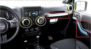 jeep wrangler 2012 interior car interior decoration trim 7pcs for jeep wrangler 2007 2008 2009