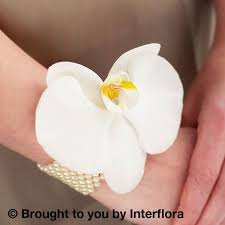 white orchid corsage white orchid pearl wrist corsage blakes of bookham