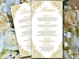 diy wedding menu cards best 25 diy wedding menu cards ideas on