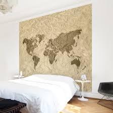 Fototapete Schlafzimmer Braun Fototapete Papier Weltkarte Beige Braun Vliestapete Premium