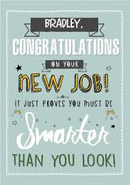 Congrats On New Job Card Personalised Cards For New Job Moonpig