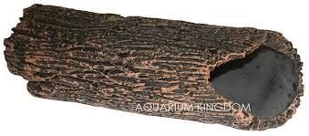 36624l aqua one large hollow log catfish pleco aquarium ornament