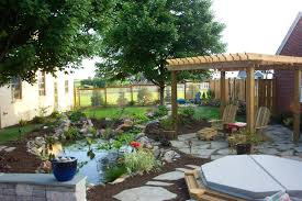 planning your landscape outdoor living pond project c e