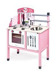 jouet cuisine bois janod j06533 maxi cuisine mademoiselle bois amazon fr