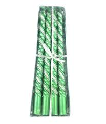 ikah spiral designer candles green pack of 8 buy ikah spiral