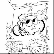 magnificent dory finding nemo coloring pages disney with nemo