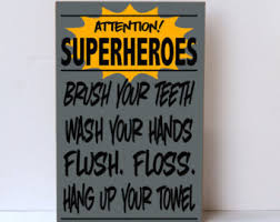 Toddler Superhero Bedroom Superhero Bathroom Etsy