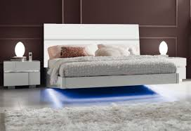 platform bed with led lights stunning led lighting under floating beds combine gloss headboard