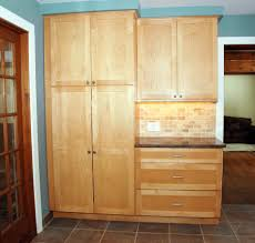 Oak Kitchen Pantry Cabinet Unfinished Wood Kitchen Pantry Cabinet With Closed Doors Kitchen