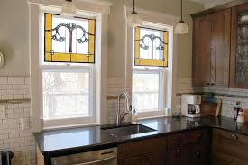 stained glass windows for kitchen cabinets made gingko leaf stained glass kitchen windows by
