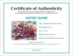 Certification Letter Ownership Sample documenting the sale of your artwork agora advice blog