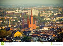 Wiesbaden Germany Map by Marktkirche In Wiesbaden Germany Royalty Free Stock Images