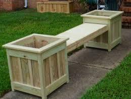 cute deck planter boxes bench plans ideas home decking designs
