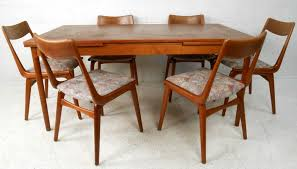 mid century dining room table mid century expandable dining table