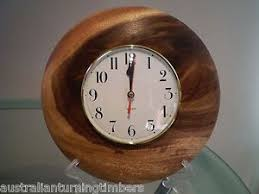 wood turned wall queensland tree wood turned wall clock ebay