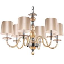 Glass Light Shades For Chandeliers Modern Blown Glass Chandelier 6 Light Shades Of Light