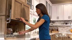garage door for kitchen cabinet schuler cabinetry counter wall cabinet with vertical lift door appliance garage