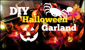 inexpensive halloween d i y garland 1 3 items youtube