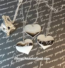 custom engraved heart necklace personalized engraved heart necklace script font iheartpersonalized