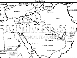 Southwest Asia Physical Map Southwest Asia Physical Features By Jordan Metzger