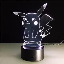 amazon com aibulbfashion pokemon lamp 3d pikachu night light