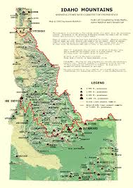 Map Of Southern Oregon by Peaklist Prominence Lists And Maps