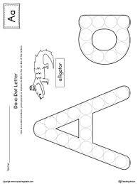 letter a do a dot worksheet myteachingstation com