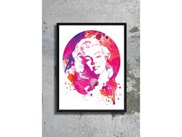 monroe print poster marilyn monroe watercolor movie poster famous