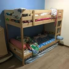 Mydal Bunk Bed Frame Ikea Mydal Bunk Bed Frame Home Furniture Furniture Mattresses