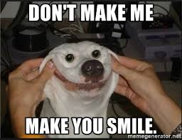 You Make Me Smile Meme - don t make me make you smile snowflap meme generator