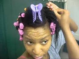 ththermal rods hairstyle natural hair journey cold wave rod set on wet hair youtube