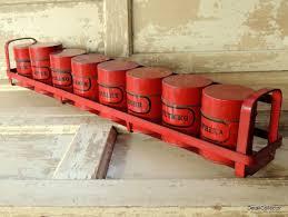 tin spice rack set red u0026 black mid century retro hanging kitchen