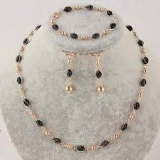 necklace bracelet earring ring images Black austrian crystal necklace bracelet earring jewelry set jpg