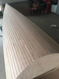 faux fake cheap teak deck from plywood 4 steps with pictures